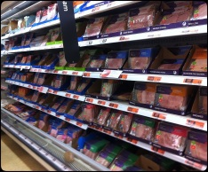 This is one section of the ham aisle.
