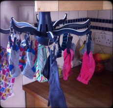 Laundry in the kitchen!